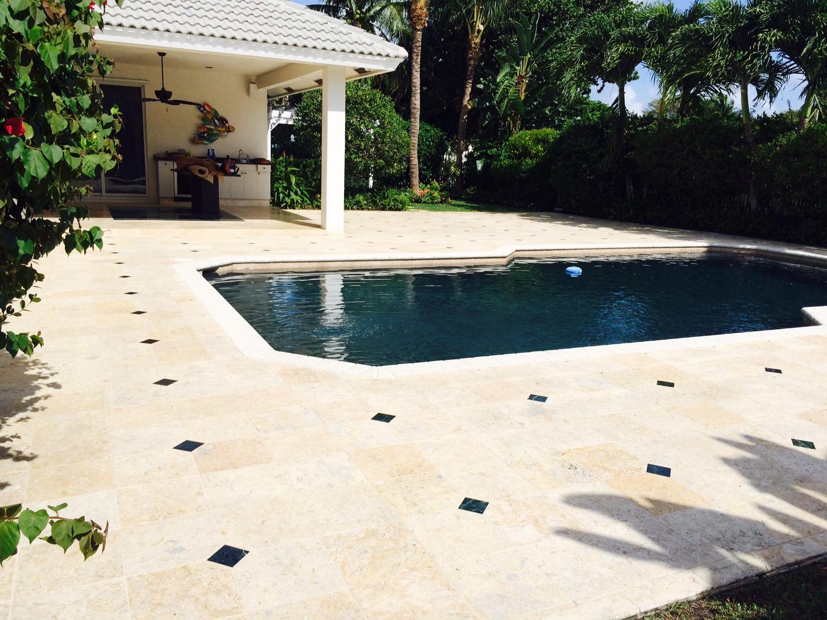 travertine and marble pool deck sealing | broward painters